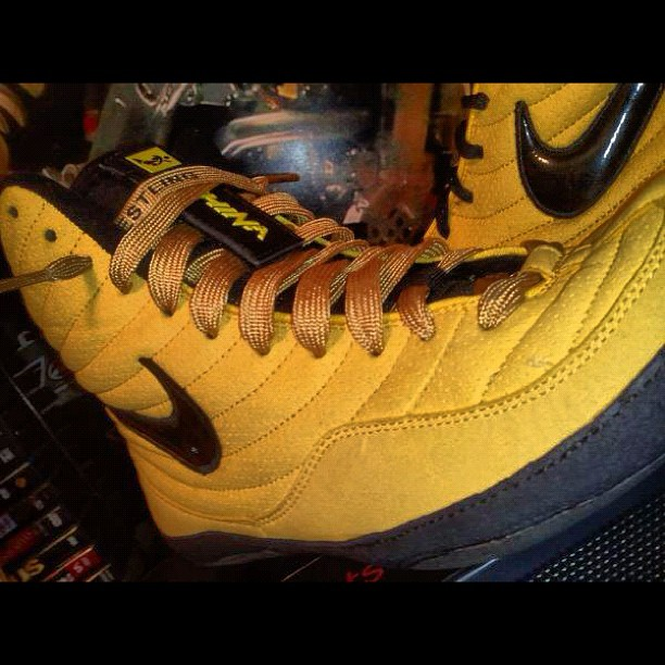 Yellow Nike Wrestling Shoes